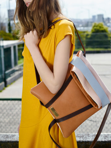 yellow dress backpack women