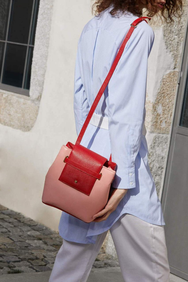 Womens-houlder-bag-pink-and-red-leather