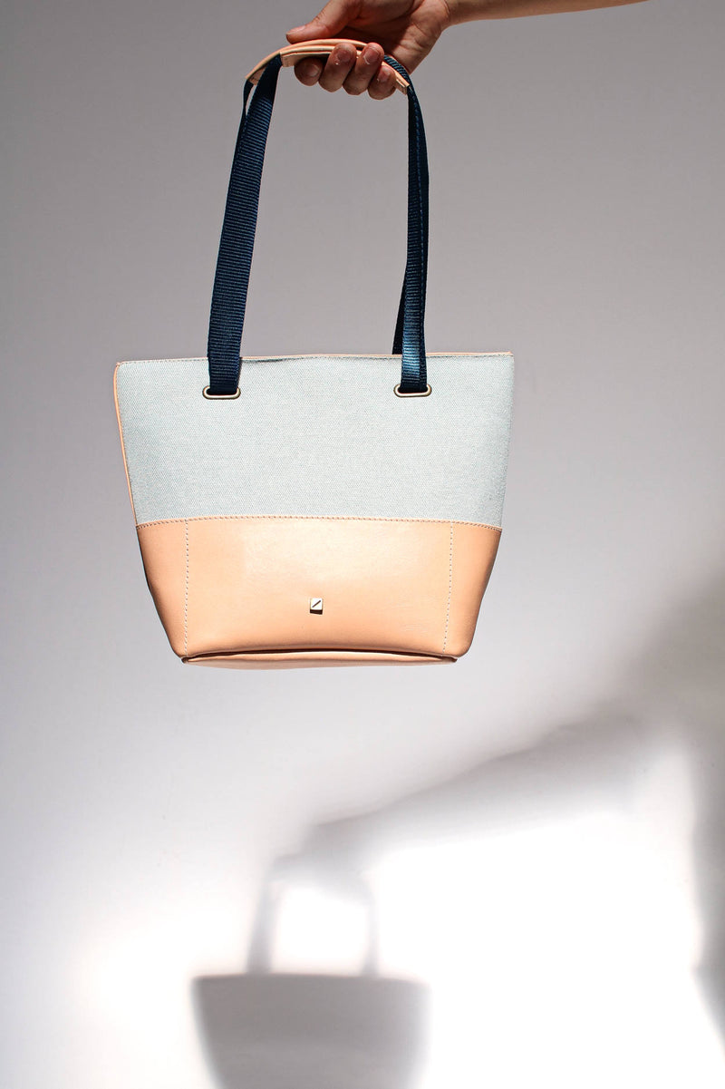 handbag cute blue and beige