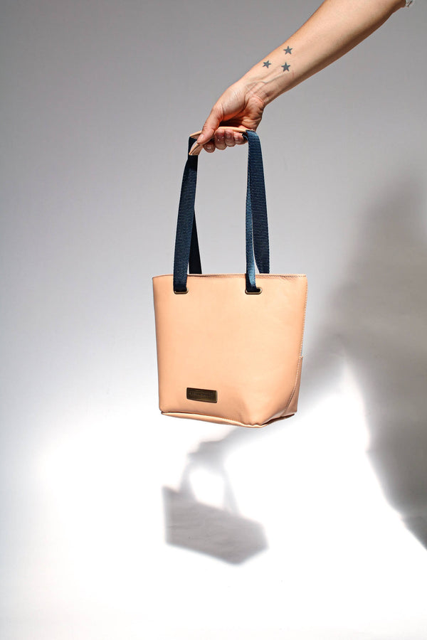 handbag nude leather