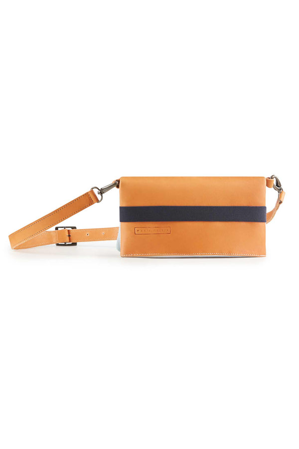 belt bag camel leather women
