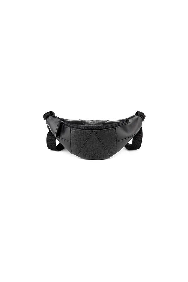 bum bag in black leather