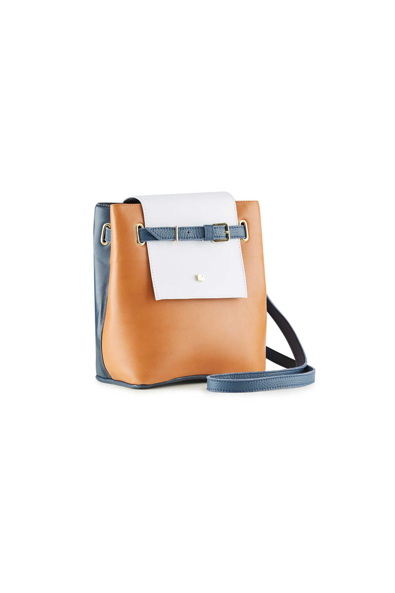 handbag brown and blue women