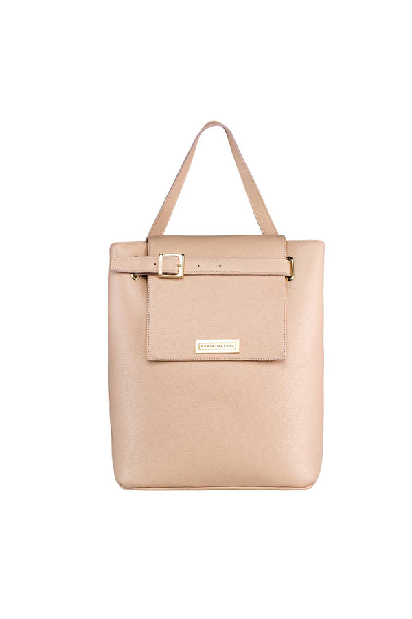 large shoulder bag in pink blush