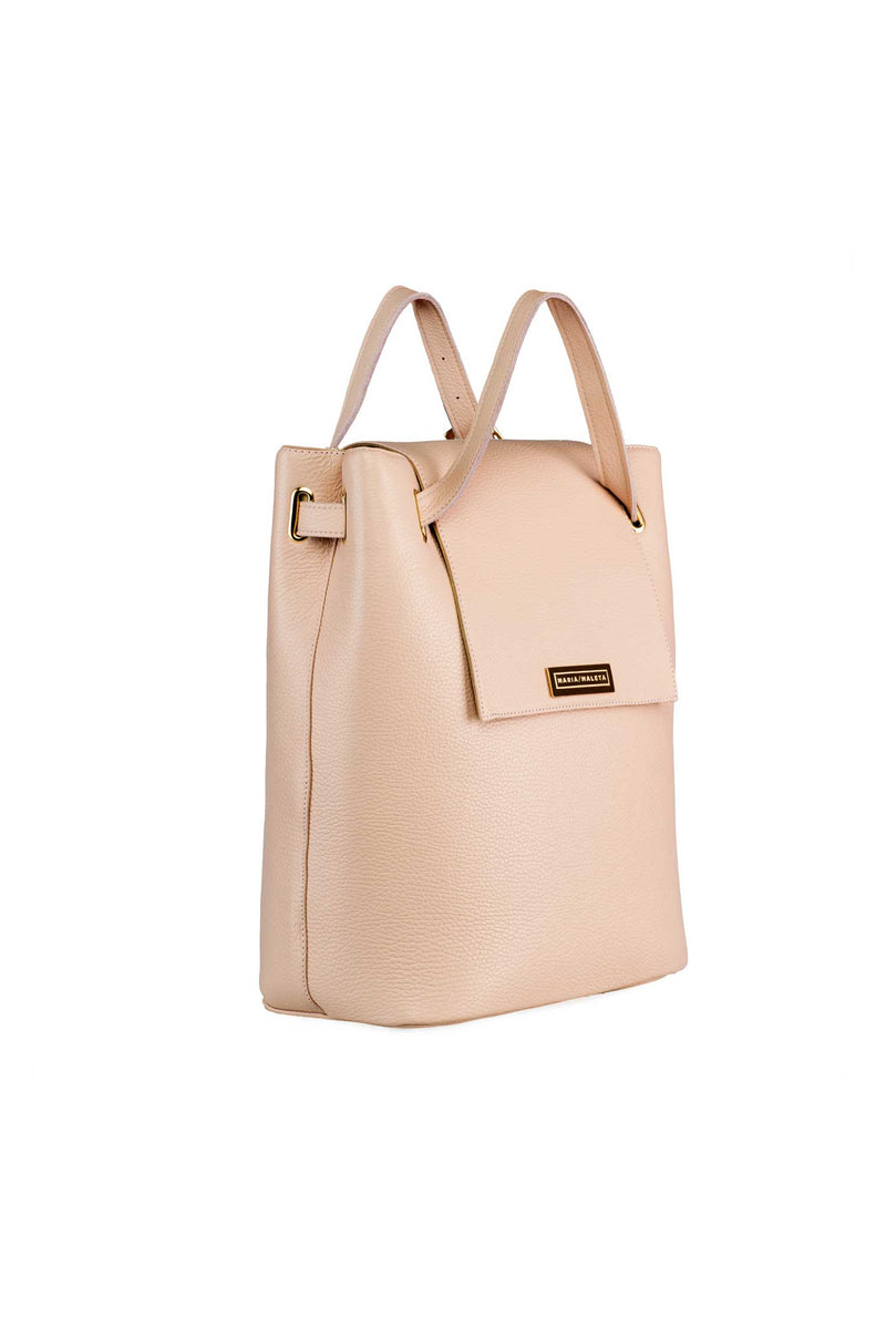 large shoulder bag in light pink