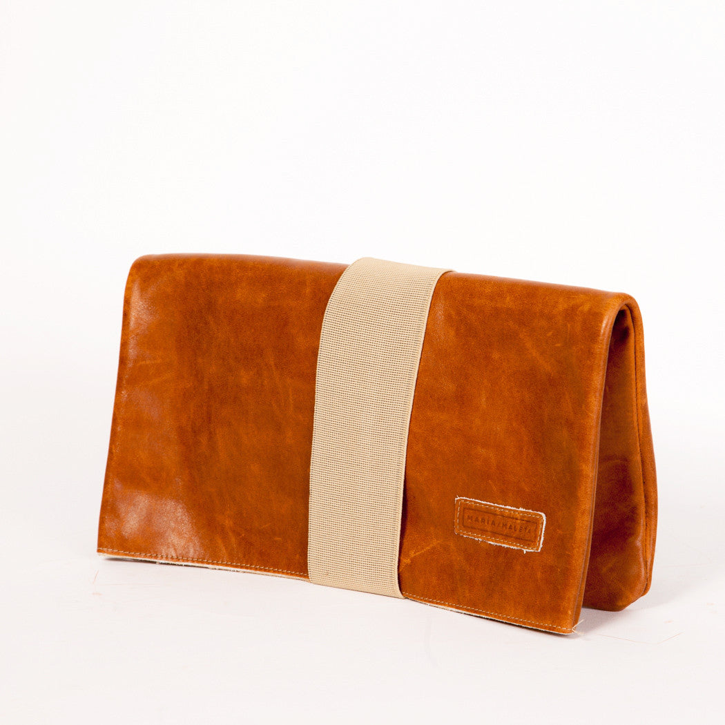clutch bag brown leather