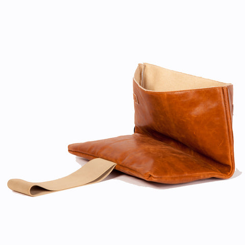 camel handbag with elastic