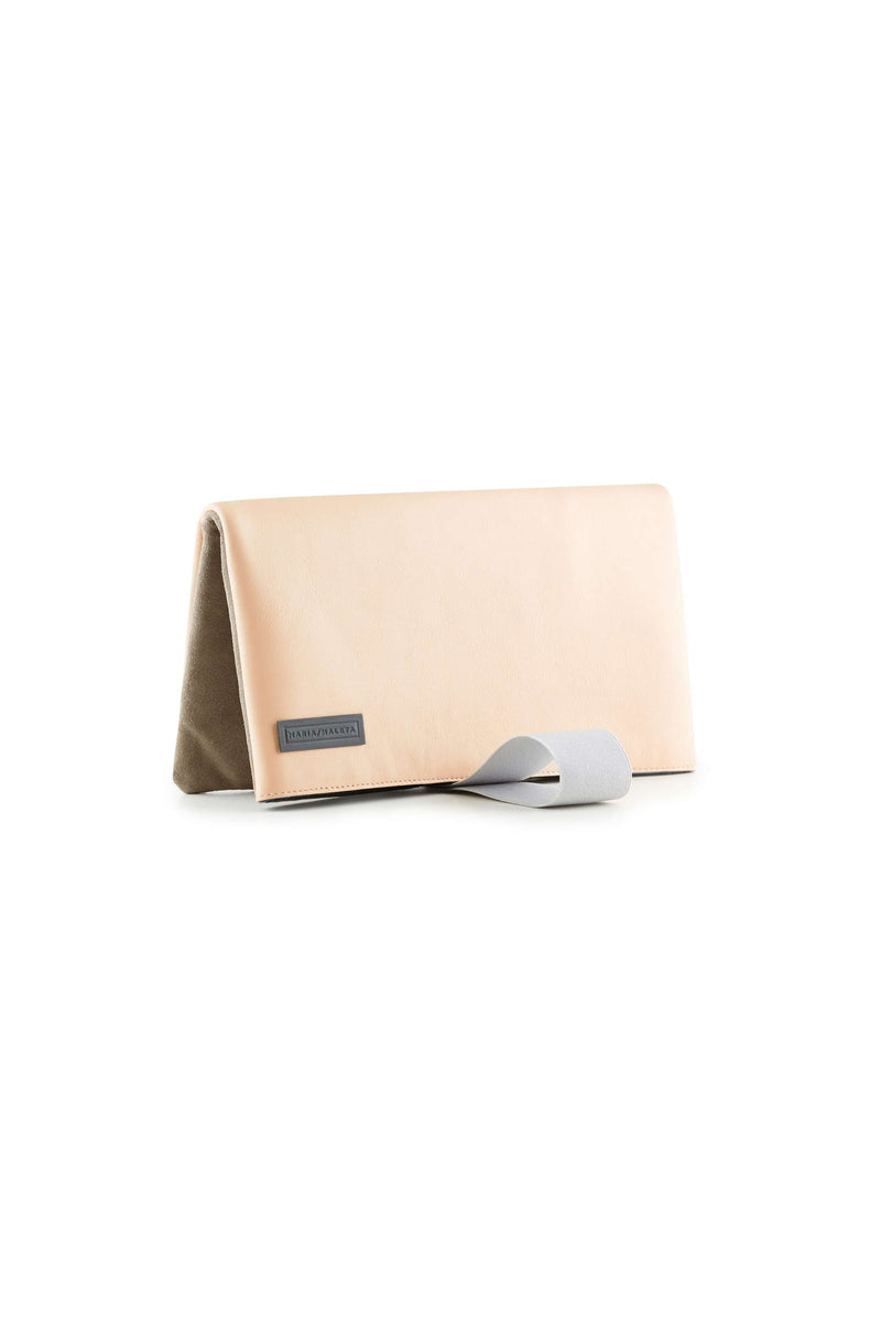 pink blush clutch bag