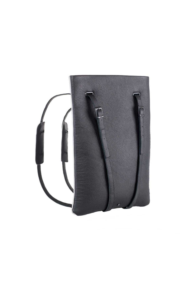 backpack laptop and computer bag black leather