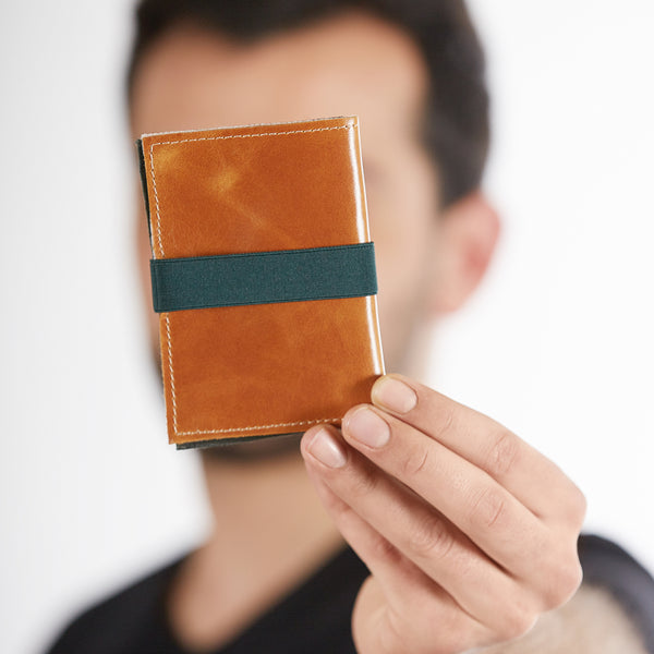 slim wallet cards and coins leather