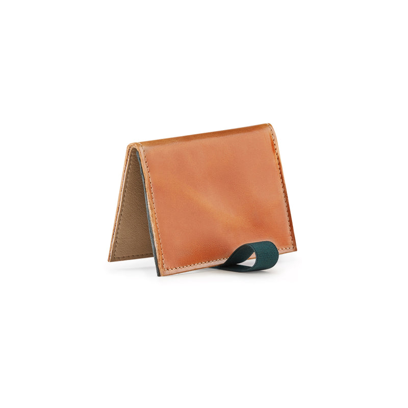 slim wallet brown leather
