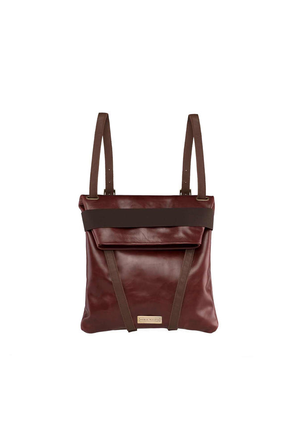dark brownish backpack for women