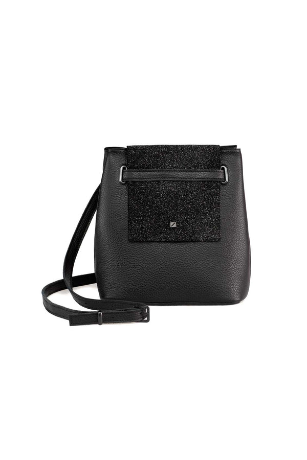 black glitter shoulder bag