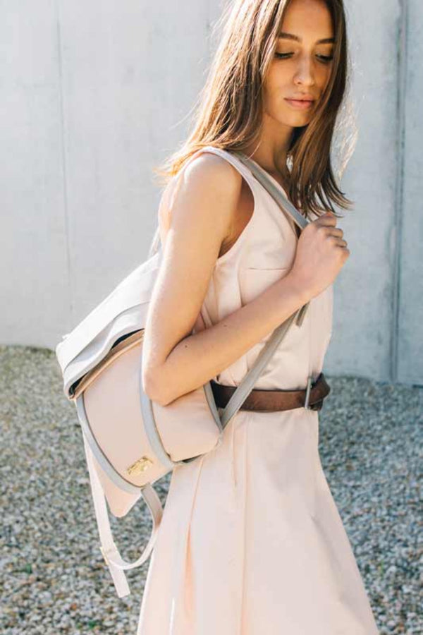 Backpack Grey and Blush