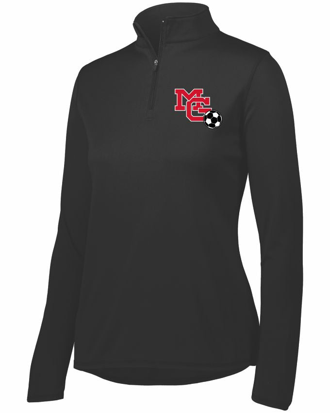 MG SOCCER2019 - WOMEN'S PERFORMANCE QUARTER ZIP FLEECE