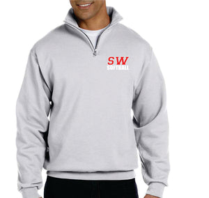 SOUTHWESTERN SOFTBALL - QUARTER-ZIP  SWEATSHIRT