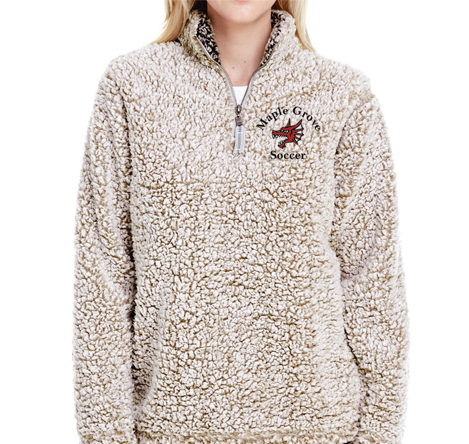 MG SOCCER - WOMENS' SHERPA QUARTER-ZIP