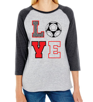 MG SOCCER - LADIES BASEBALL SHIRT
