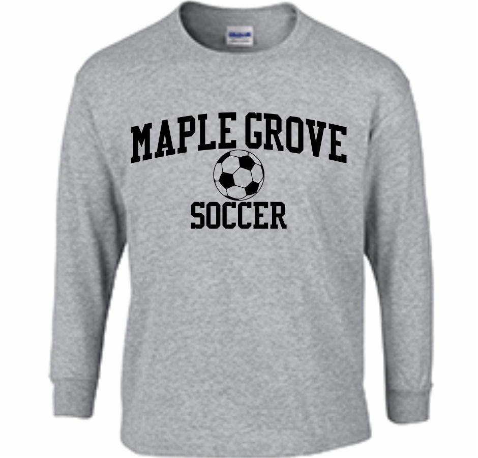 MG SOCCER2019 - LONG SLEEVE TSHIRT- ADULT AND YOUTH