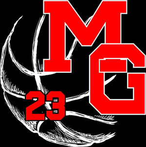 MG BASKETBALL - WINDOW CLING