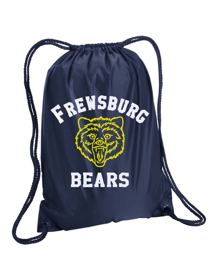 FREWSBURG CHEER DRAWSTRING BAG - GLITTER LOGO