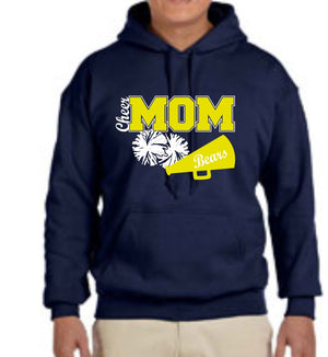 FREWSBURG CHEER  HOODED SWEATSHIRT - GLITTER