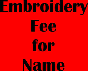 MG SOCCER - EMBROIDERY FEE FOR NAME