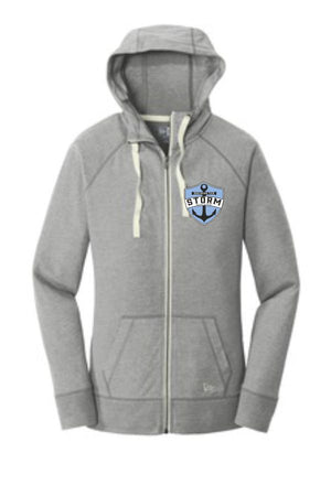 ST STORM - MEN'S NEW ERA SUEDED COTTON FULL ZIP HOODIE