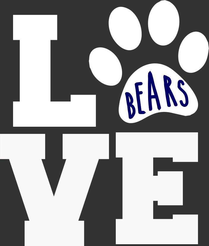 FREWSBURG CHEER LOVE WINDOW STICKER