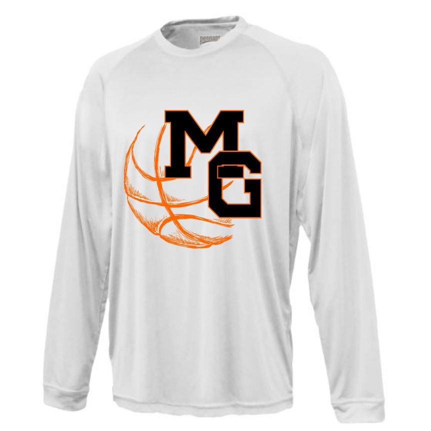 MG BASKETBALL - LONG SLEEVE PERFORMANCE TSHIRT