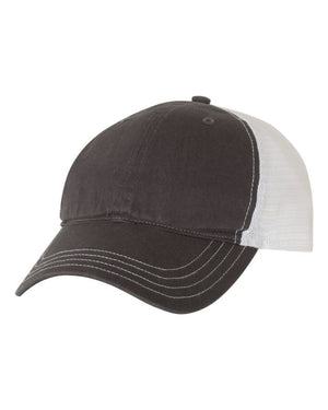 4H - GARMENT WASHED TRUCKER CAP