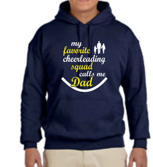FREWSBURG CHEER CHEER DAD HOODED SWEATSHIRT