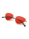 Oval Shaped Flat Lens Sunglasses-KRZ