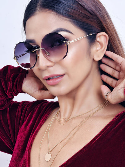 Wave Rimless Sunglasses