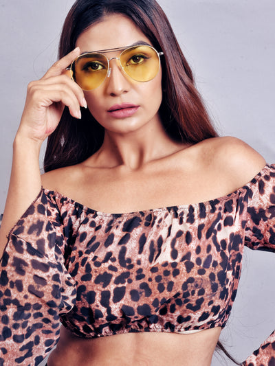 Contrast Top Bar  Sunglasses