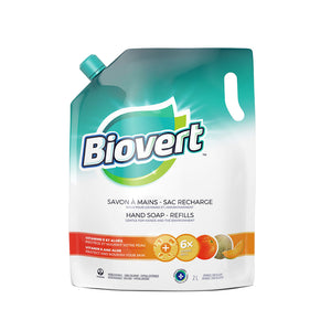 Bio-Vert Orange/Cantaloupe Refill Liquid Hand Soap 2 L
