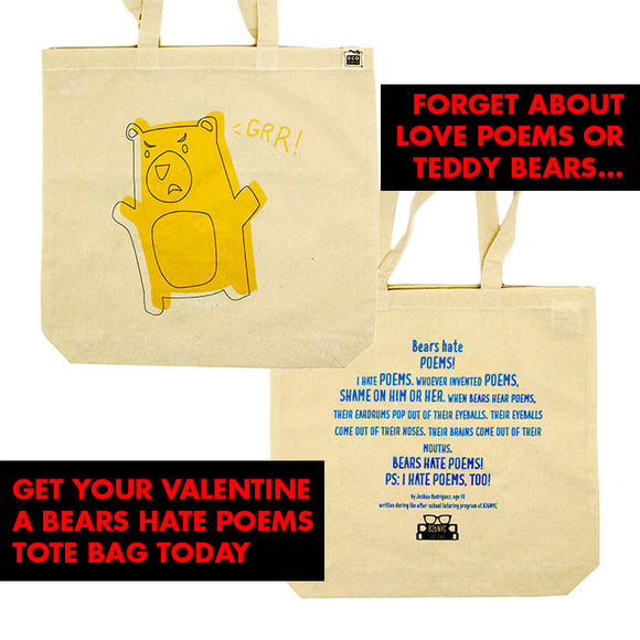 Tote Bag: Bears Hate Poems