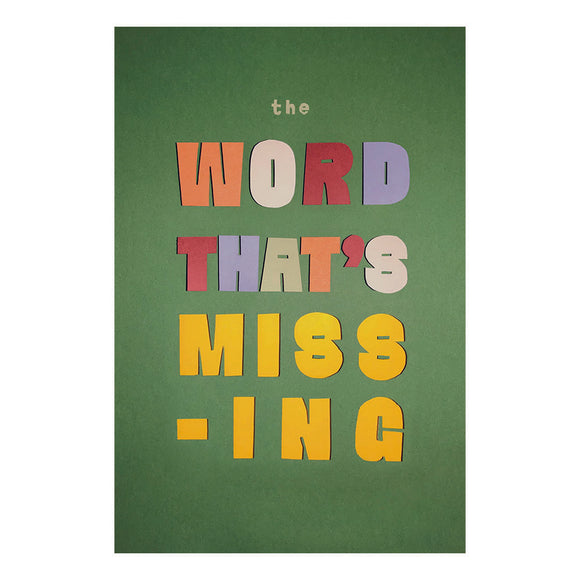 The Word That's Missing
