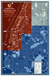 Poster: Map of Brooklyn and Environs