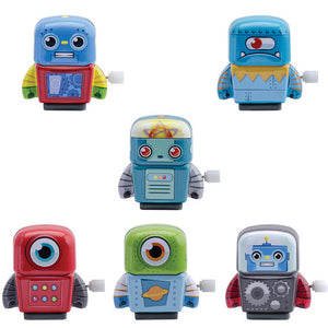 Mini Tin Wind-Up Robots