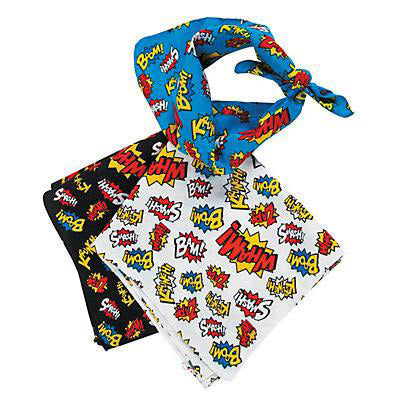 400 Square Inches of Onomatopoeia Bandana