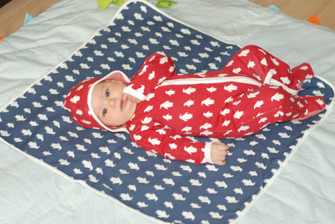 Penguin Organics Bonnet and Blanket