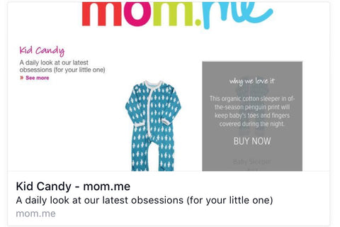 Moder organic baby clothes-Penguin Organics is selected by mom.me