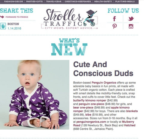 Stroller Traffic features Penguin Organics
