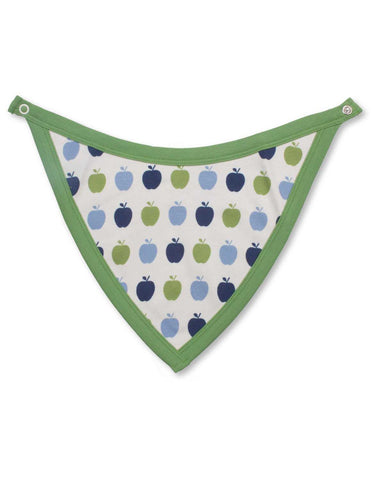 Apple Bib Multi Blue Organic Cotton