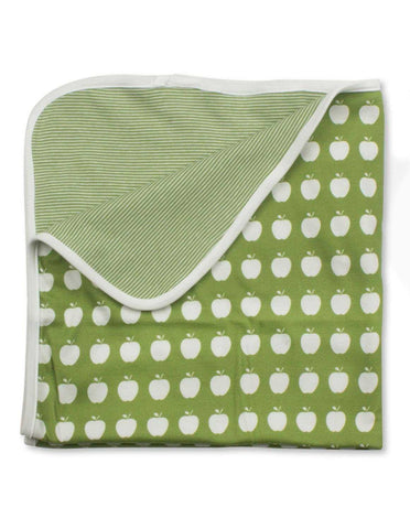 Apple Blanket Green Organic Cotton | Penguin Organics