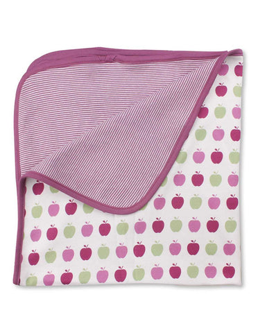 Apple Blanket Multi Pink Organic Cotton | Penguin Organics