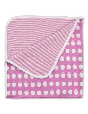 Apple Blanket Pink Organic Cotton | Jazzy Organics