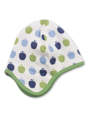 Apple Bonnet Multi Blue Organic Cotton | Penguin Organics