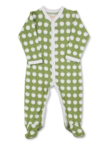 Apple One-Piece Green Organic Cotton | Penguin Organics